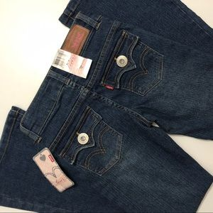NWT LEVI GIRL FLARED JEANS SIZE 8